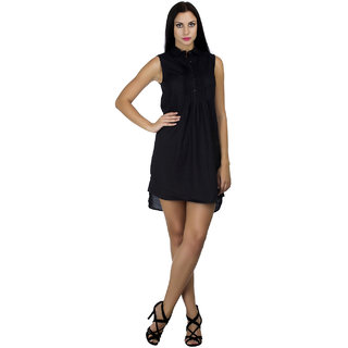 MansiCollections Womens Shirt Black Dress