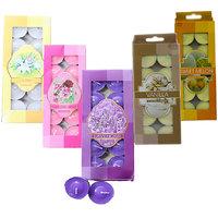 Mix Scented Tea Light Candles Pack Of 50Pcs For Diya, D