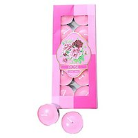 Scented Rose Tea Light Candles Pack Of 10Pcs For Diya,