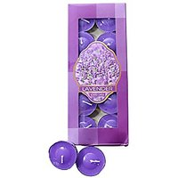Scented Lavender Tea Light Candles Pack Of 10Pcs For Di