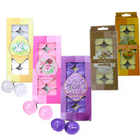 Mix Scented Tea Light Candles Pack Of 50Pcs For Diya, D