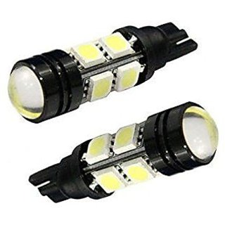 2 X 8 SMD / LED White Projector Light Bulb for Parking Bulb / Side Indicator