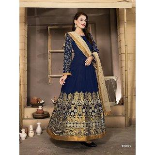Blue Aanaya Vol-4 Designer Anarkali Salwar Banglori Silk Suit