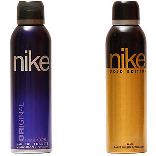 Nike Deodorants Original and Gold Edition for Men 200ml Each (Pack of 2)