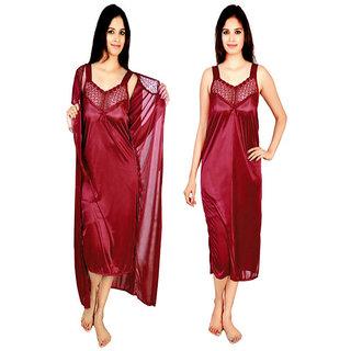 RamE-2 PC Satin nighty ,gown ,night wear ,night dress,night suits