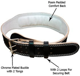 Adjustable Weight Lifting Padded Leather Belt
