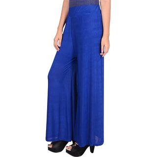RamE-Regular Fit Women's Royal Blue  Blue  Trousers,Palazzo