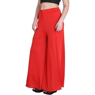 RamE-Regular Fit Women's girls Orange   Palazzo,Trousers,