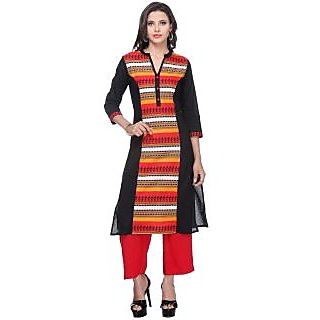 Varanga Multicolor Printed Cotton Stitched Kurti