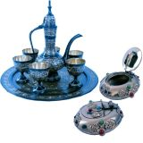 Buy Antique Royal Wine Set N Get Pure Brass Gemstone Ash Tray Free