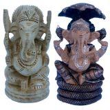 Buy Hand Painted Lord Ganesha On Sheshnaag N Get Ganesha Idol Free