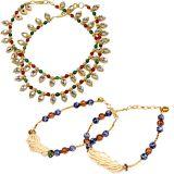 Buy Minakari Designer Brass Payal N Get Another Multi-Color Payal Free