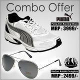 Puma Aron Shoe And Roxton Aviator Style Sunglass