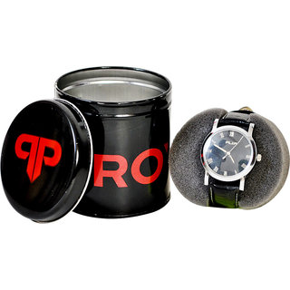 Provogue Flip Black Analog Watch (Men)