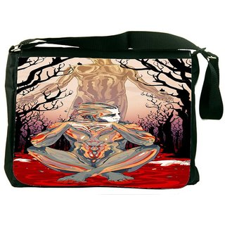 Snoogg Thinker'S Soul Digitally Printed Laptop Messenger  Bag