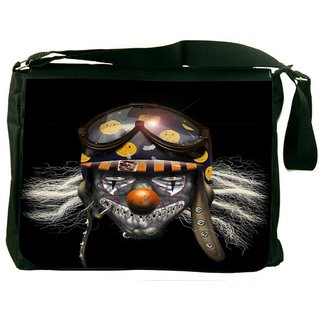 Snoogg Evil Clown Soldier 2625 Digitally Printed Laptop Messenger  Bag