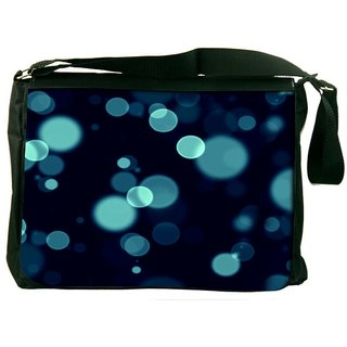 Snoogg Bubbles Blue Designer Laptop Messenger Bag