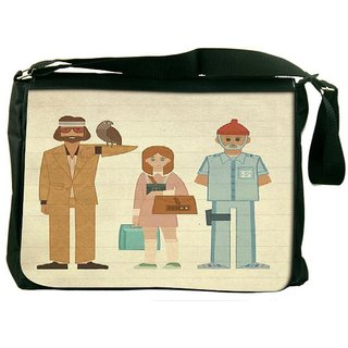 Snoogg Be Hippie Digitally Printed Laptop Messenger  Bag