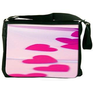 Snoogg Red Drop Heart Designer Laptop Messenger Bag