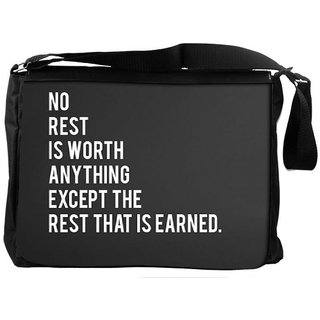 Snoogg Rest That Is Earned Designer Laptop Messenger Bag