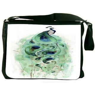 Snoogg Feather Strip Digitally Printed Laptop Messenger  Bag