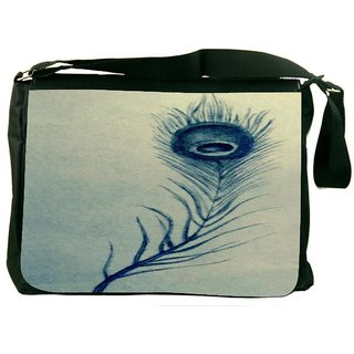 Snoogg Feather Abstract Digitally Printed Laptop Messenger  Bag