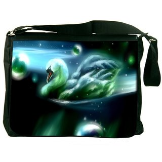 Snoogg Swan In The Night 2704 Digitally Printed Laptop Messenger  Bag