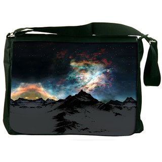 Snoogg Aurora Galaxy Designer Laptop Messenger Bag