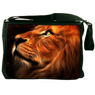Snoogg Lion Heart Designer Laptop Messenger Bag