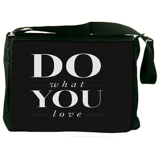 Snoogg Do What You Love Designer Laptop Messenger Bag