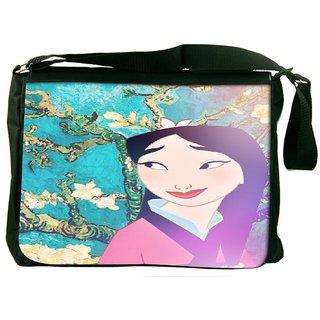 Snoogg Geisha Stories Designer Laptop Messenger Bag