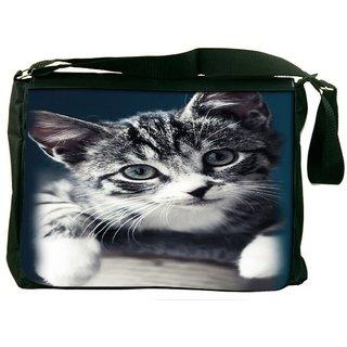 Snoogg Baby Cat Kitty Designer Laptop Messenger Bag