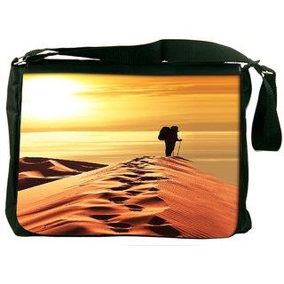 Snoogg Desert Sunset Designer Laptop Messenger Bag