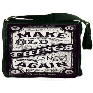 Snoogg Make New Things Designer Laptop Messenger Bag