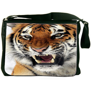 Snoogg Tiger Hunger Designer Laptop Messenger Bag