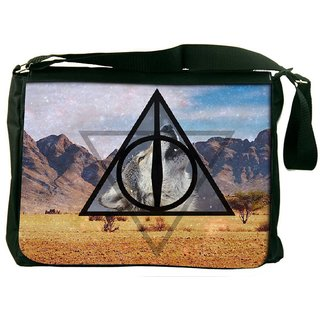 Snoogg Universe Wolf Designer Laptop Messenger Bag
