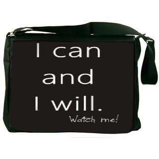 Snoogg Watch Me! Designer Laptop Messenger Bag