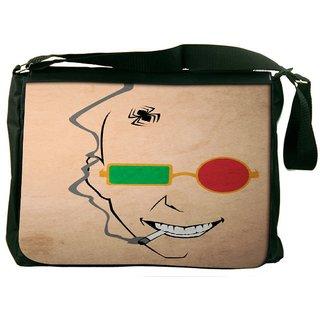 Snoogg Naughty Minimal Designer Laptop Messenger Bag