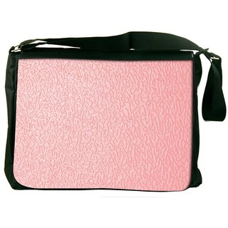 Snoogg Pink Distorted Water Designer Laptop Messenger Bag