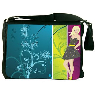 Snoogg Abstract Illustration Designer Laptop Messenger Bag