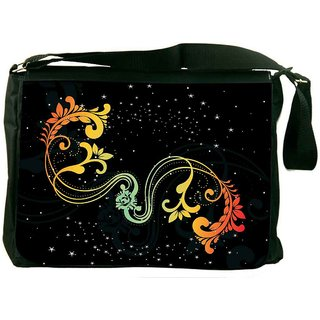Snoogg Creative Artwork With Shiny Background Digitally Printed Laptop Messenger  Bag