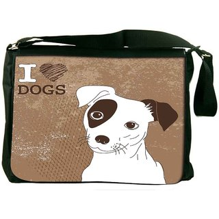 Snoogg Cute Jack Russell Terrier Brilliant Card For Doglovers Designer Laptop Messenger Bag