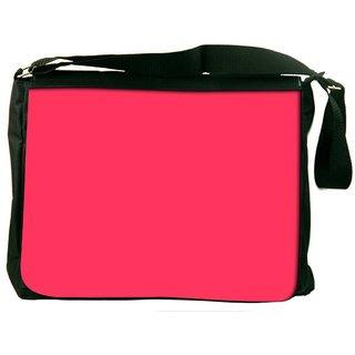 Snoogg Plain Red Digitally Printed Laptop Messenger  Bag