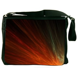 Snoogg Mutlicolor Rays Digitally Printed Laptop Messenger  Bag
