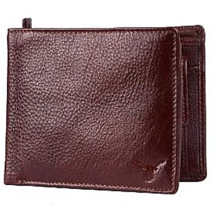 100% Lather Men's Wallet - Brown