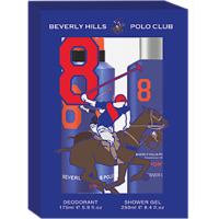 Beverly Hills Polo Club Gift Set Pack Of 2 ( Deodrant + Body Wash) Blue Men 8
