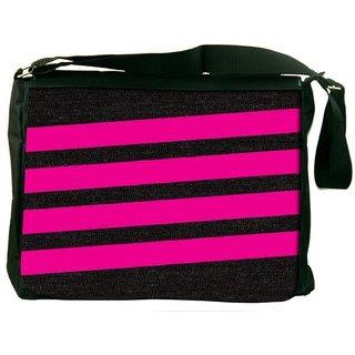 Snoogg Simple Pink 2905 Digitally Printed Laptop Messenger  Bag