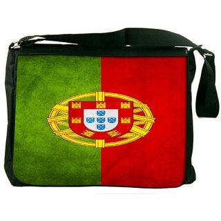 Snoogg Portugal Flag 2982 Digitally Printed Laptop Messenger  Bag
