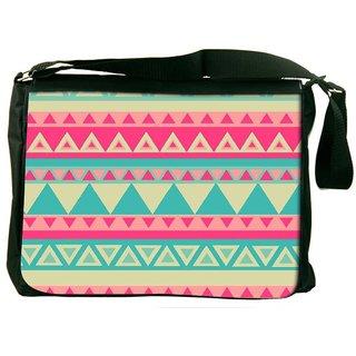 Snoogg Aztec Pink Designer Laptop Messenger Bag