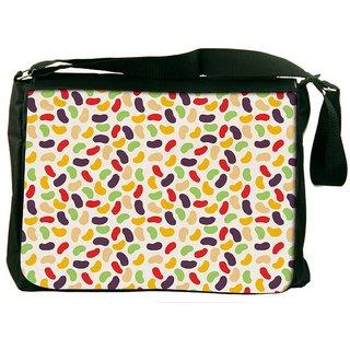 Snoogg Gloss Candy Pattern Designer Laptop Messenger Bag